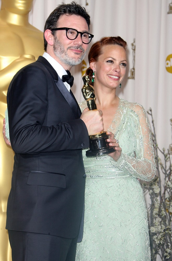 Michel Hazanavicius, Berenice Bejo<br>84th Annual Academy Awards - Press Room