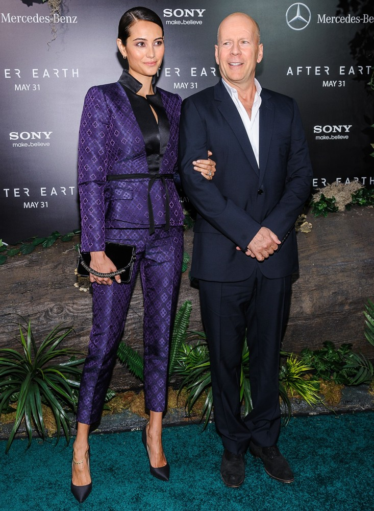 Emma Heming, Bruce Willis<br>New York Premiere of After Earth