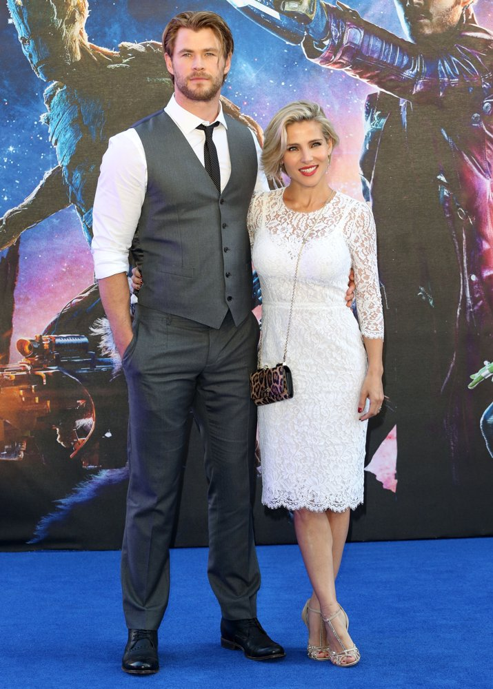 Chris Hemsworth, Elsa Pataky<br>UK Premiere of Guardians of the Galaxy - Arrivals