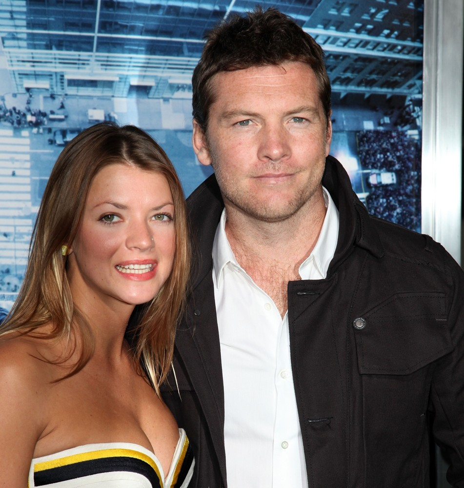 Crystal Humphries, Sam Worthington<br>Premiere of Man on a Ledge
