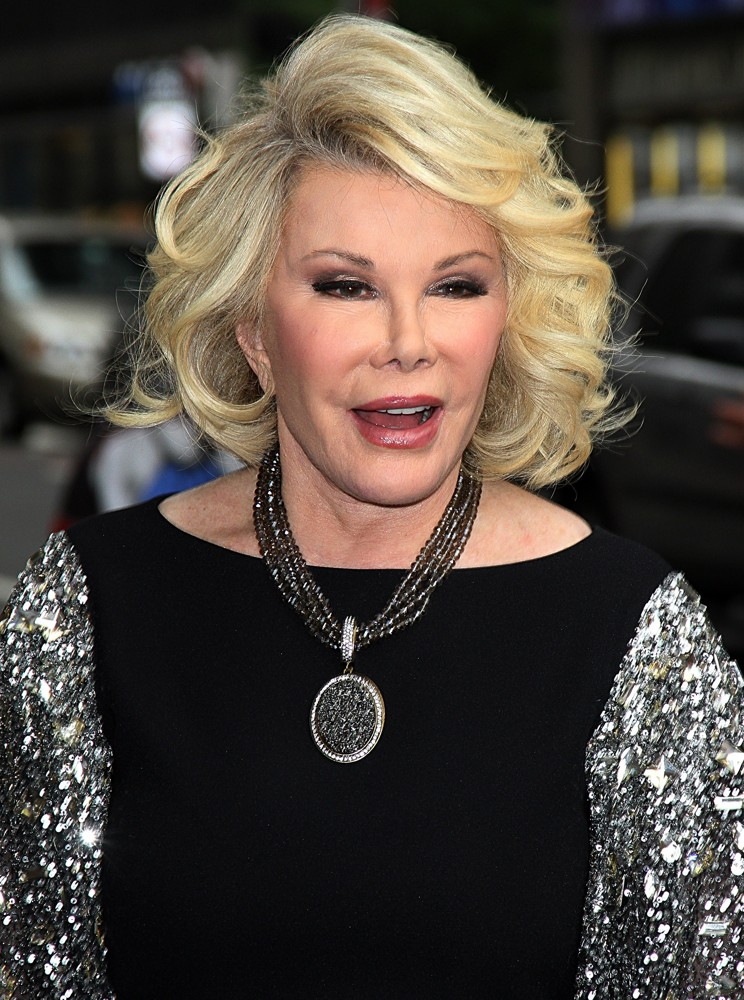 Joan Rivers<br>Celebrities Arriving for The Late Show with David Letterman