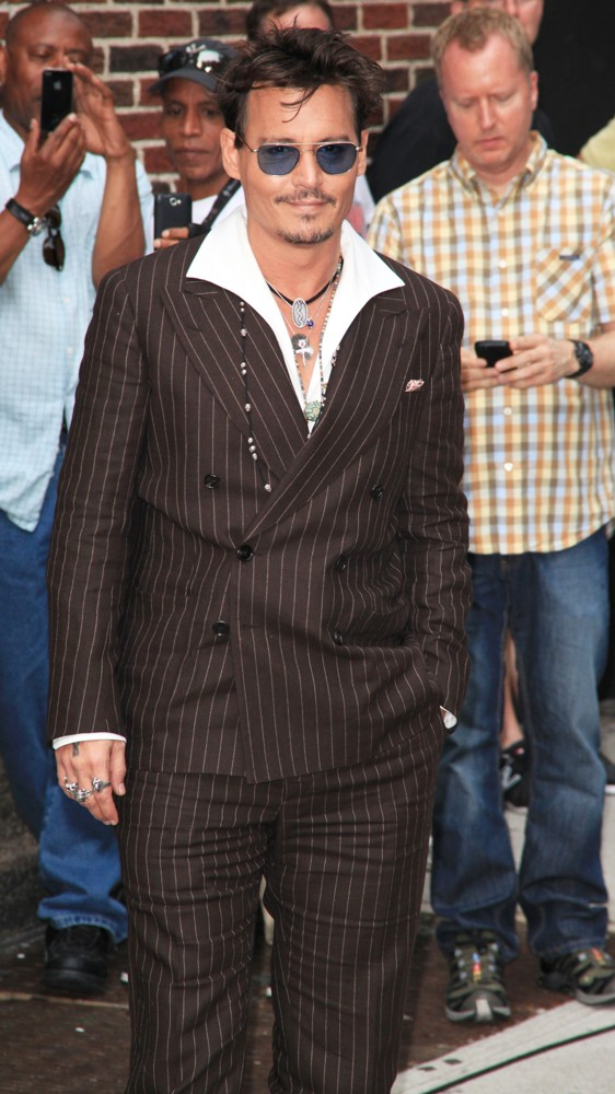 Johnny Depp<br>Celebrities for The Late Show with David Letterman