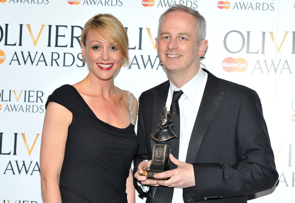 Suranne Jones, Dominic Cooke<br>The Olivier Awards 2013 - Press Room
