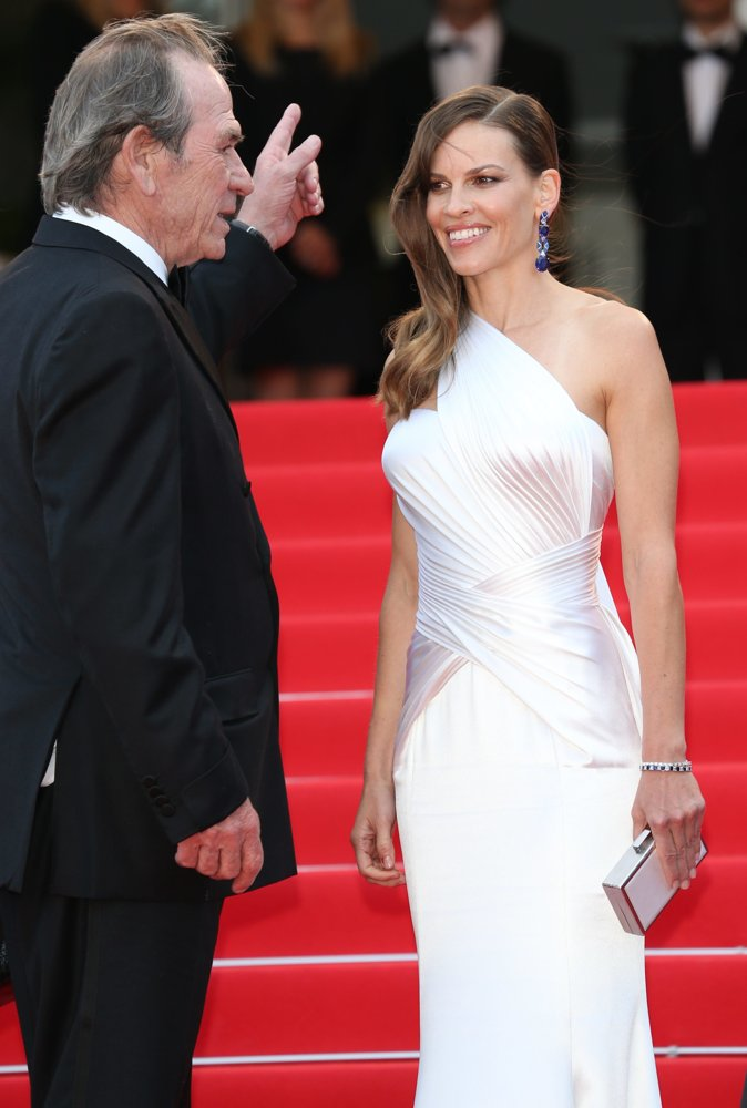 Tommy Lee Jones, Hilary Swank<br>The 67th Annual Cannes Film Festival - The Homesman - Premiere Arrivals
