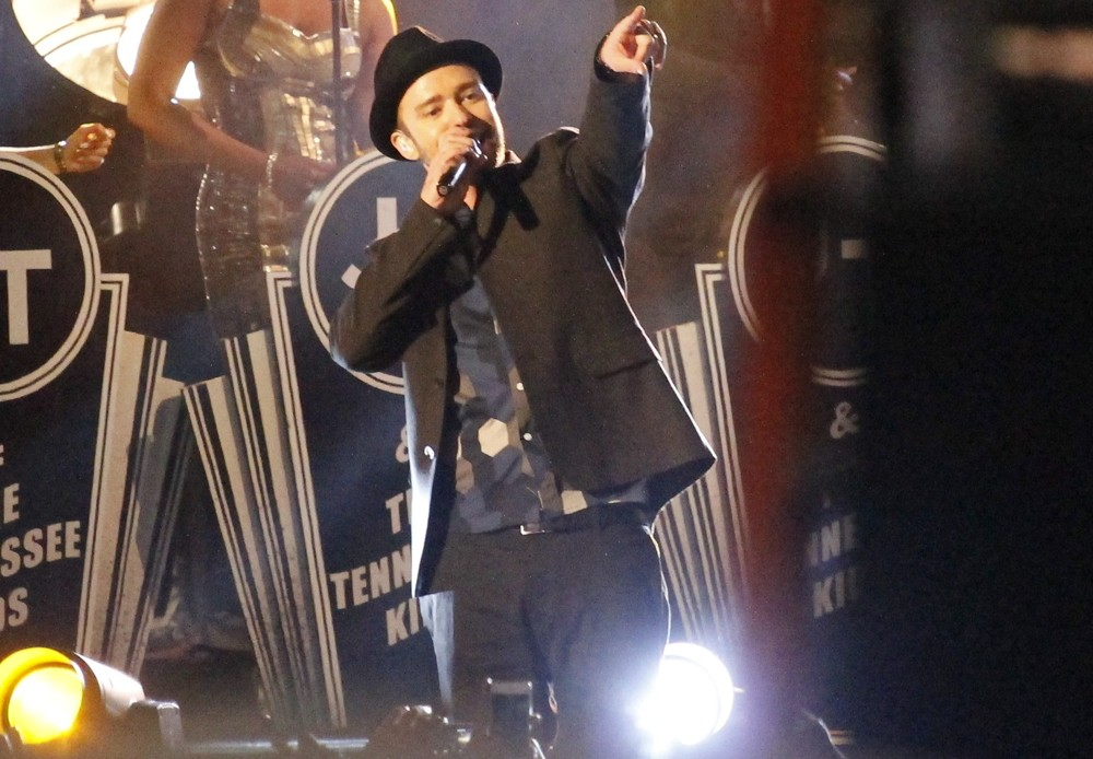 Justin Timberlake<br>Justin Timerlaes Performs Outside on Hollywood Blvd for The Jimmy Kimmel Show