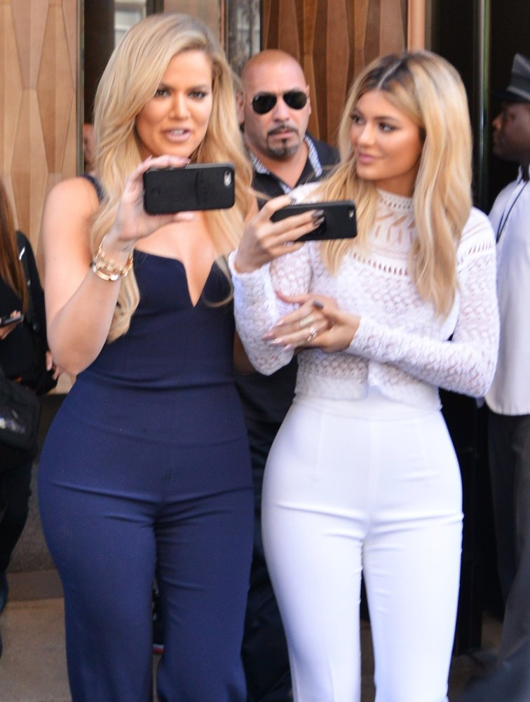 Khloe Kardashian, Kylie Jenner<br>Khloe Kardashian and Kylie Jenner Out and About in New York