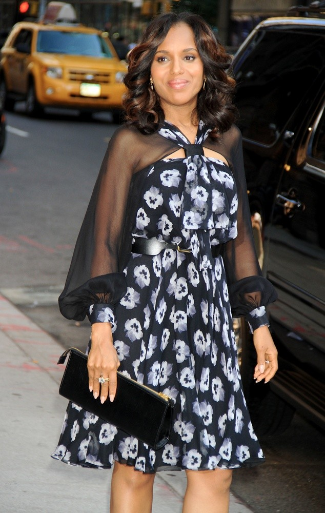 Kerry Washington<br>Kerry Washington Attends The Late Show with David Letterman