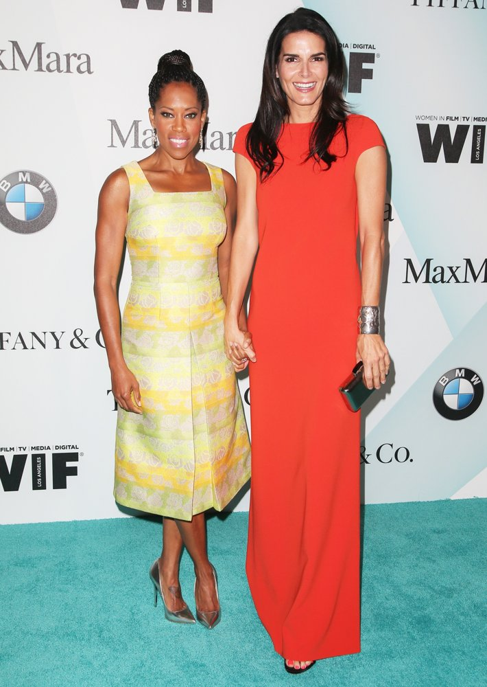 Regina King, Angie Harmon<br>Women in Film 2015 Crystal + Lucy Awards