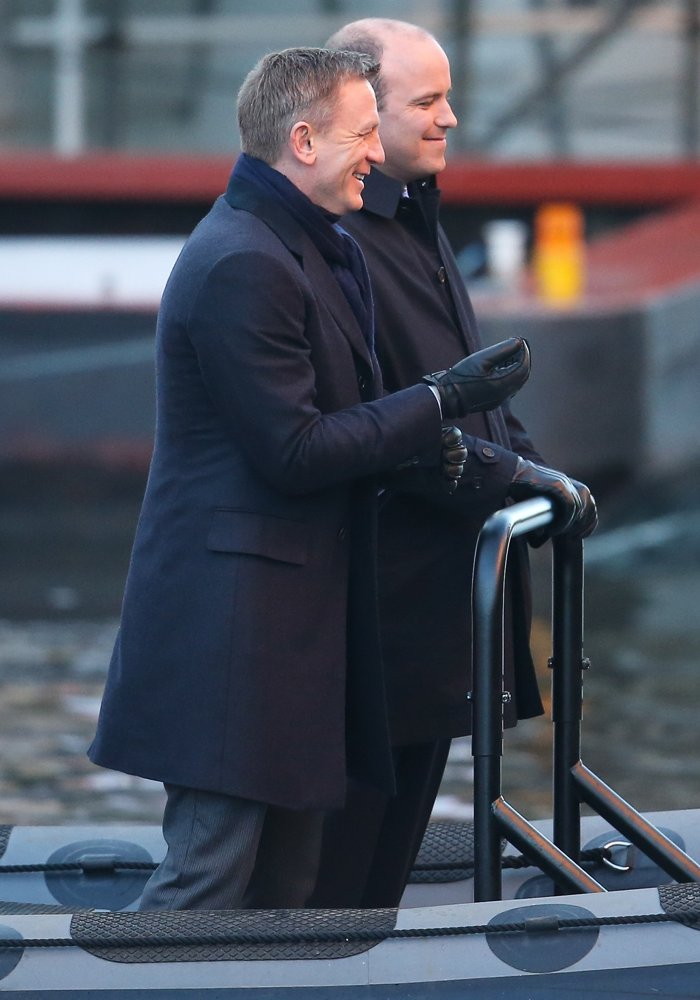 Daniel Craig, Rory Kinnear<br>Filming of James Bond Movie Spectre