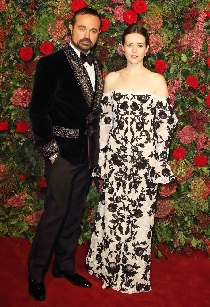 Evgeny Lebedev, Claire Foy<br>The 64th Evening Standard Theatre Awards - Arrivals