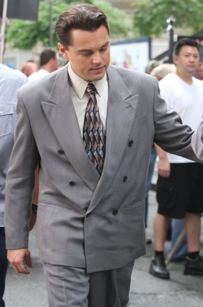 Leonardo DiCaprio<br>Filming Scenes for The Wolf of Wall Street