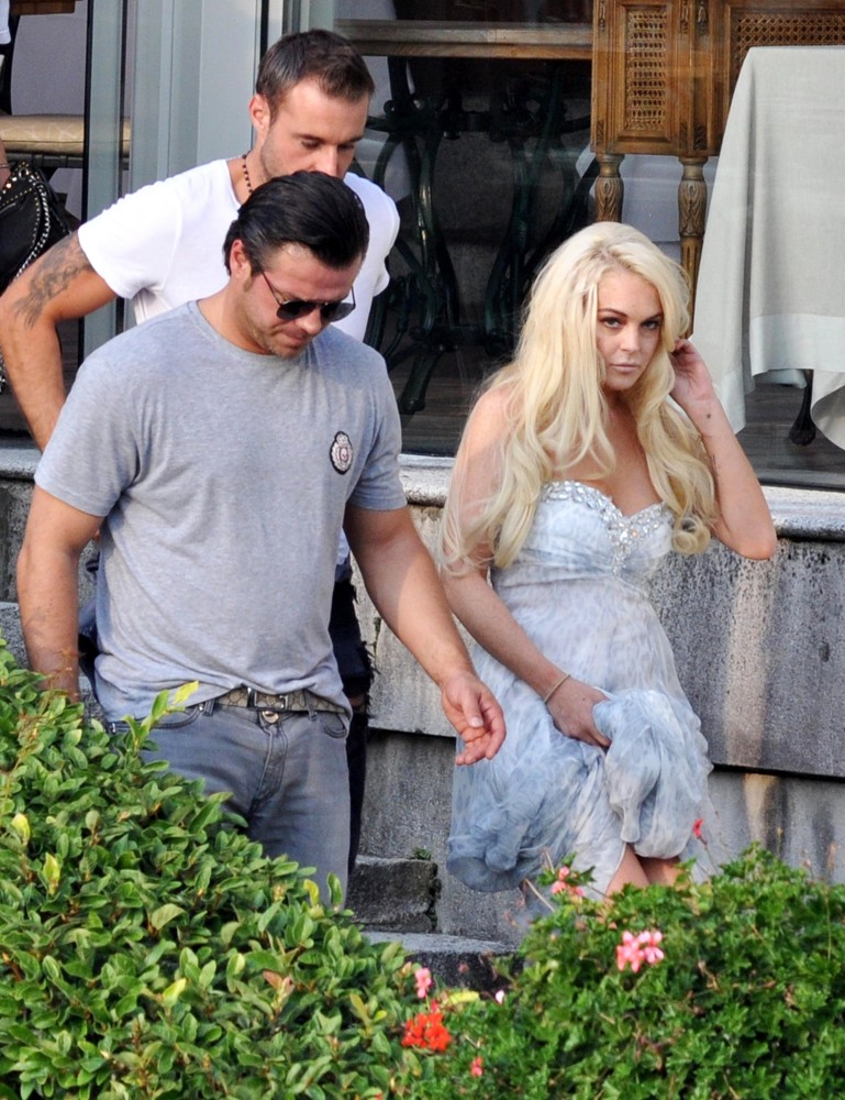 Lindsay Lohan<br>Lindsay Lohan Takes Part in A Photoshoot for German Brand Philipp Plein on Lake Como