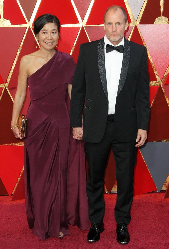 Laura Louie, Woody Harrelson<br>90th Annual Academy Awards - Arrivals
