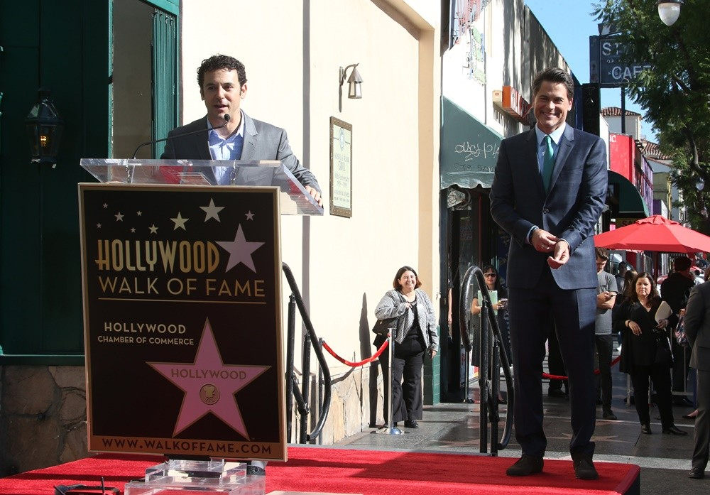 Fred Savage, Rob Lowe<br>Rob Lowe Honored with A Star on The Hollywood Walk of Fame