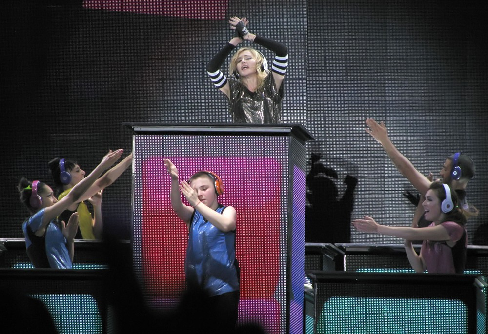 Madonna, Rocco Ritchie<br>Madonna Performs During Her MDNA Tour