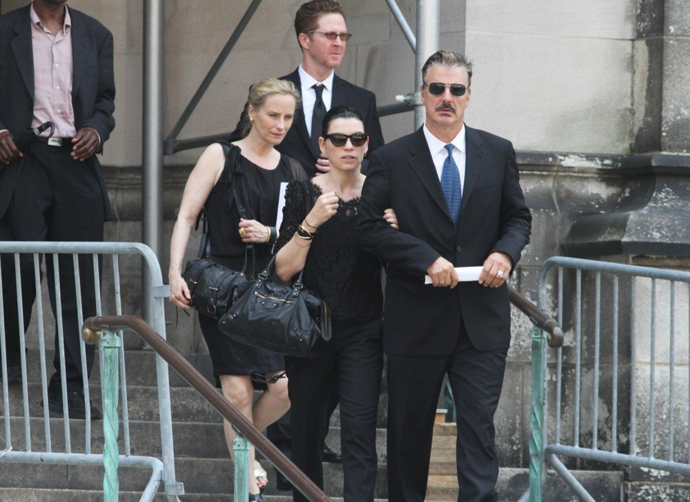 Julianna Margulies, Chris Noth<br>The Funeral Service for Actor James Gandolfini