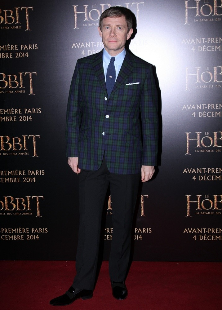 Martin Freeman<br>The Hobbit: The Battle of the Five Armies France Premiere