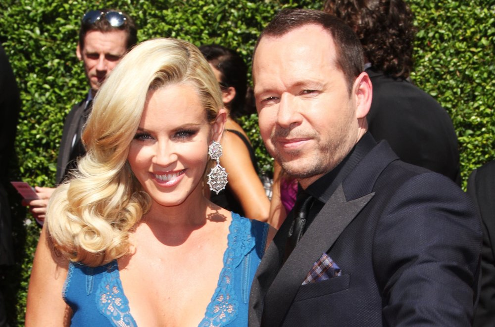 Jenny McCarthy, Donnie Wahlberg<br>2014 Creative Arts Emmy Awards - Arrivals