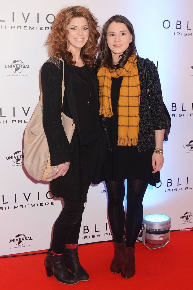 Aoibhinn McGinnity, Charlie Murphy (II)<br>The Irish Premiere of Oblivion - Inside Arrivals