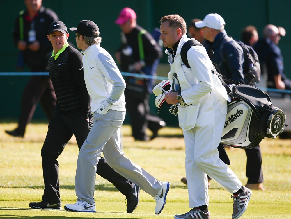 Rory McIlroy, Niall Horan<br>BMW PGA Celebrity Pro-Am Challenge 2015