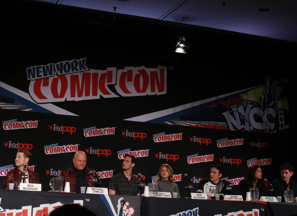 Benjamin McKenzie, Michael Chiklis, Cory Michael Smith, Erin Richards, Robin Lord Taylor, Jessica Lucas, James Frain<br>New York Comic Con - Day 4 - Press Conference