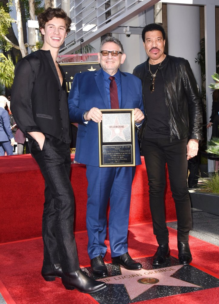 Shawn Mendes, Lucian Grainge, Lionel Richie<br>Lucian Grainge Honored with A Star on The Hollywood Walk of Fame Ceremony