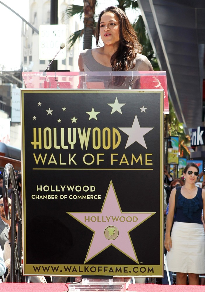 Michelle Rodriguez<br>Vin Diesel Honored on The Hollywood Walk of Fame