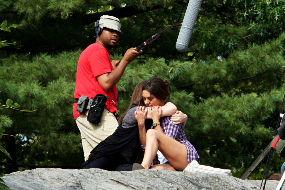 Filming on The Set of New Film 'Friends with Benefits'