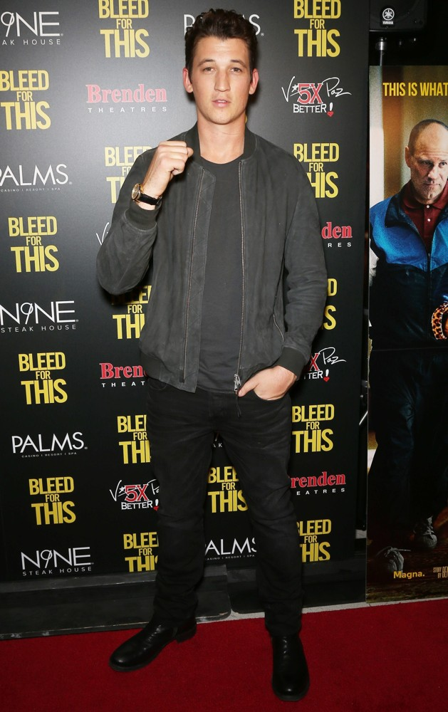 Miles Teller<br>Bleed for This Premiere