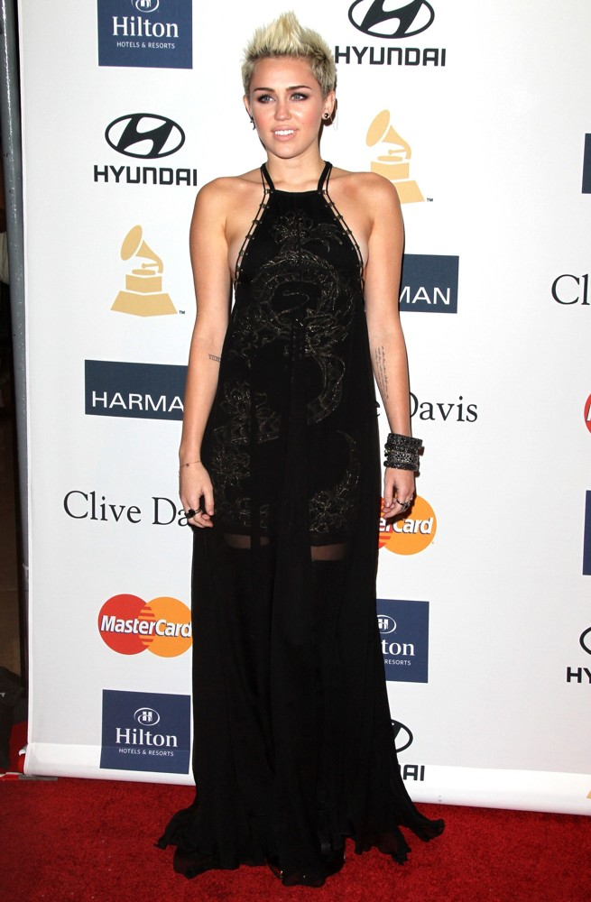 Miley Cyrus Picture 424 - Clive Davis and The Recording ... Miley Cyrus Grammys 2013