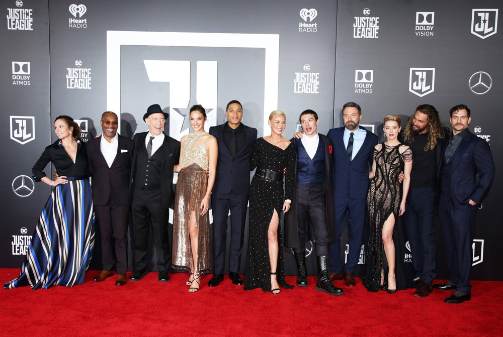 Diane Lane, Joe Morton, J.K. Simmons, Gal Gadot, Ray Fisher, Connie Nielsen, Ezra Miller, Ben Affleck, Amber Heard, Jason Momoa, Henry Cavill<br>Justice League Film Premiere