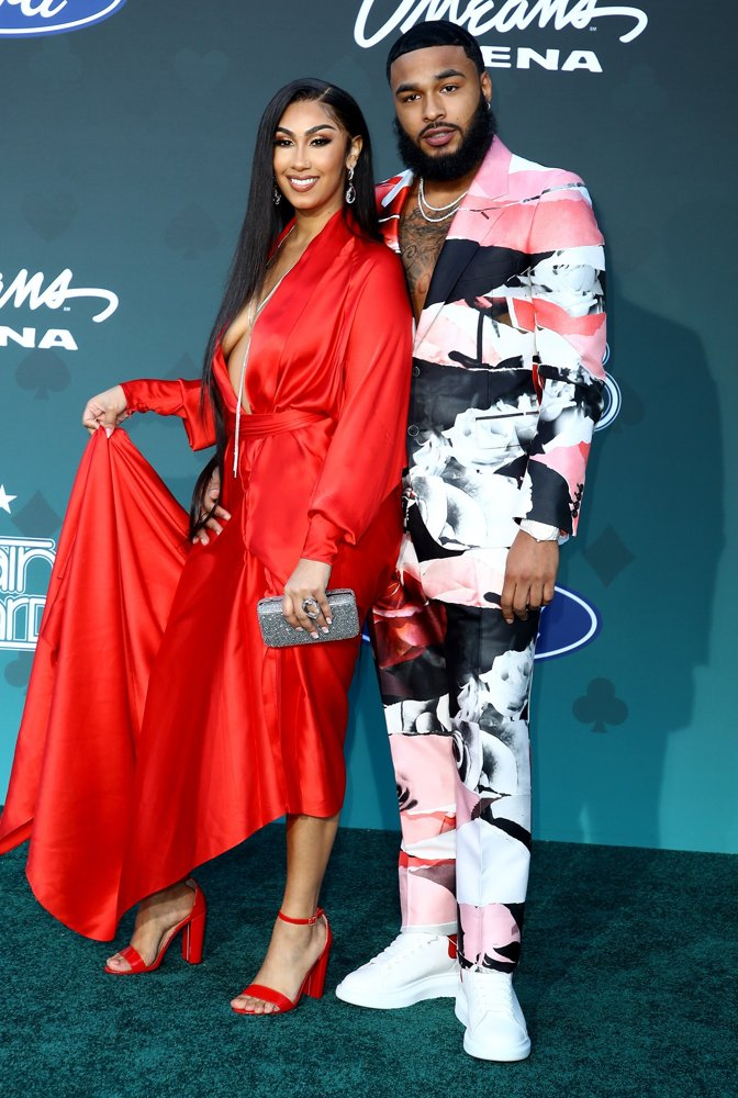 Queen Naija, Clarence White<br>2019 Soul Train Awards - Arrivals