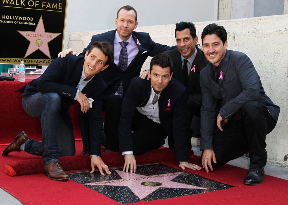 New Kids On The Block<br>New Kids On The Block on The Hollywood Walk of Fame