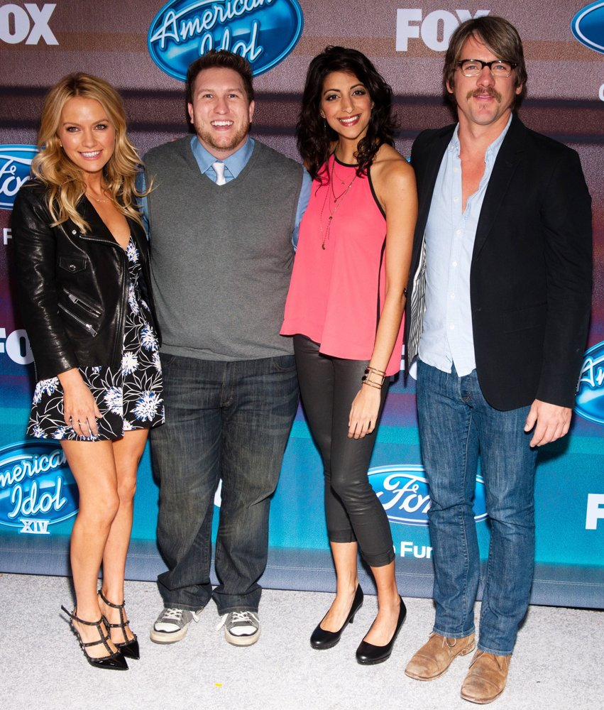 Becki Newton, Nate Torrence, Meera Rohit Kumbhani, Zachary Knighton<br>American Idol XIV Finalists Party - Arrivals