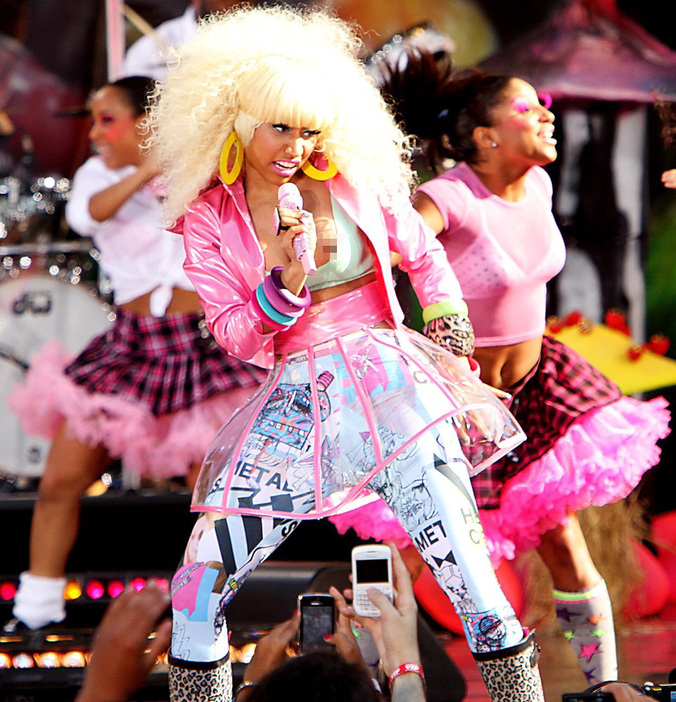 Nicki Minaj's Nipples Pop Out During Live TV Performance