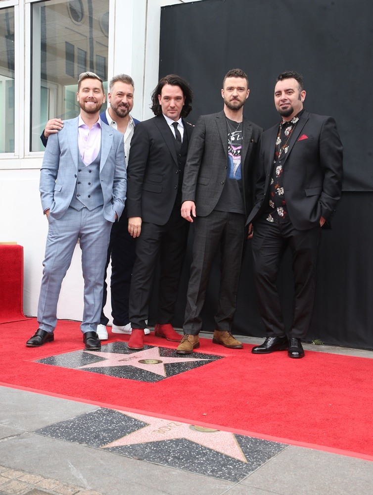 NSYNC, Lance Bass, Joey Fatone, JC Chasez, Justin Timberlake, Chris Kirkpatrick<br>NSYNC Honored with Star on The Hollywood Walk of Fame