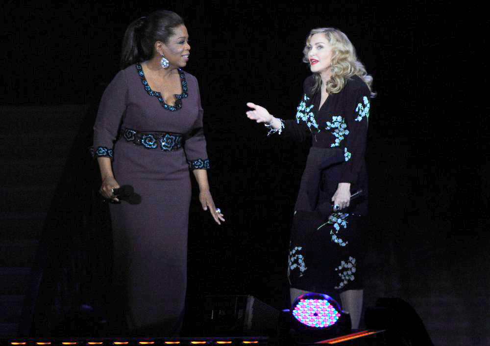 Oprah Winfrey and Madonna During Surprise Oprah A Farewell Spectacular