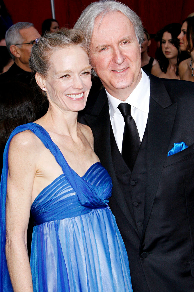 Family photo of the actress, married to James Cameron,  famous for One Good Turn.