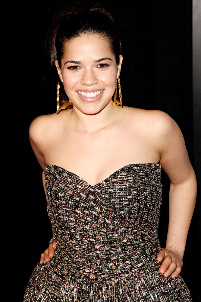 "america ferrera wedding dress in our family wedding. 2011 in ""Our Family Wedding""."