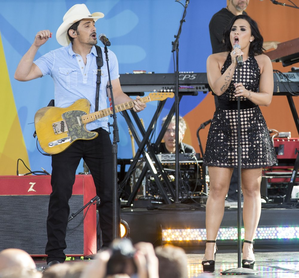 Good Morning America Performances : Demi lovato picture brad paisley and on