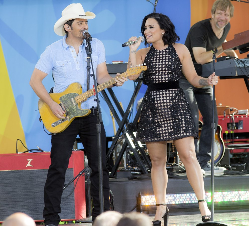 Brad Paisley, Demi Lovato<br>Brad Paisley and Demi Lovato on Good Morning America Summer Concert Series