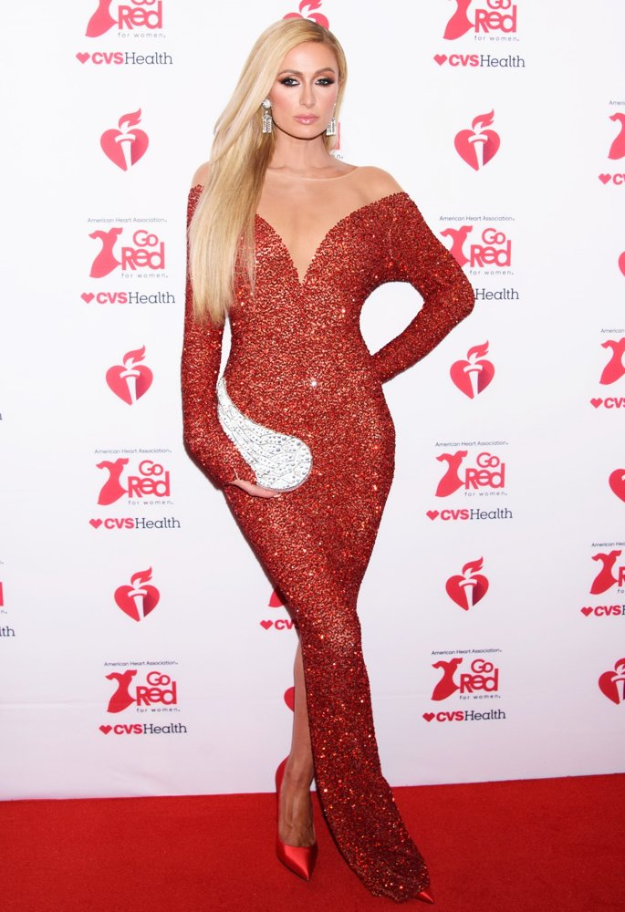 Paris Hilton<br>The American Heart Association's Go Red for Women Red Dress Collection 2020 - Arrivals