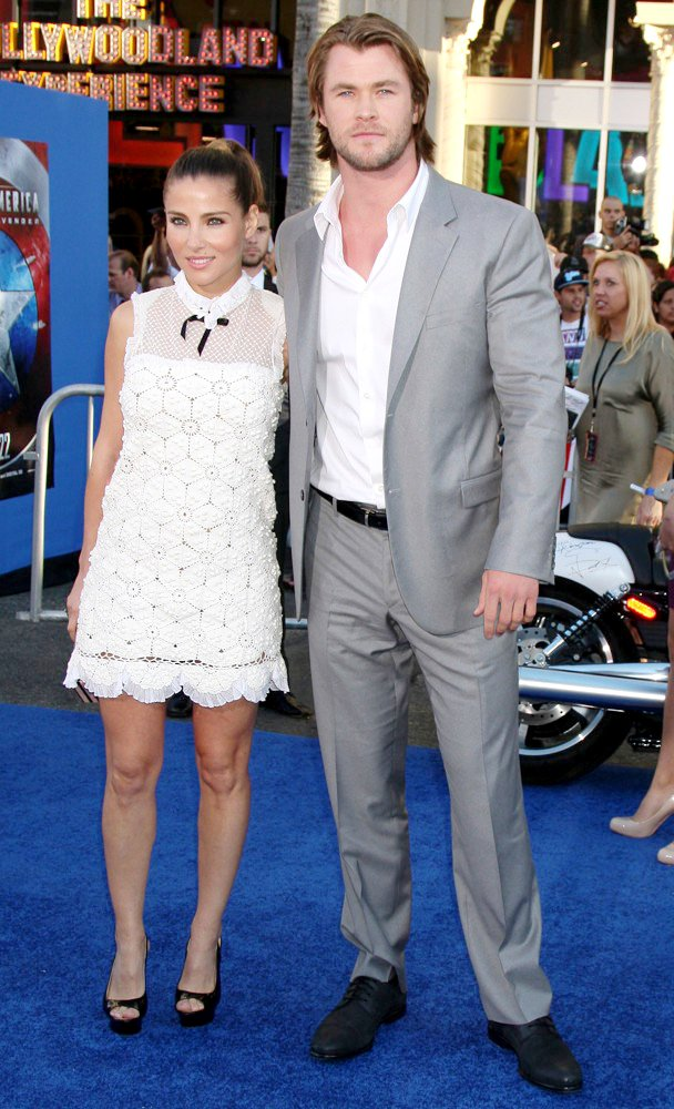 Elsa Pataky, Chris Hemsworth<br>Los Angeles Premiere of Captain America The First Avenger - Arrivals