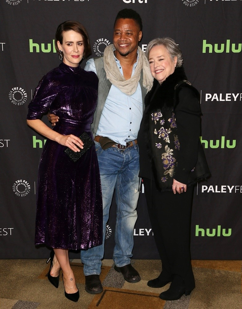 Sarah Paulson, Cuba Gooding Jr., Kathy Bates<br>The Paley Center for Media's 34th Annual PaleyFest Los Angeles - American Horror Story: Roanoke