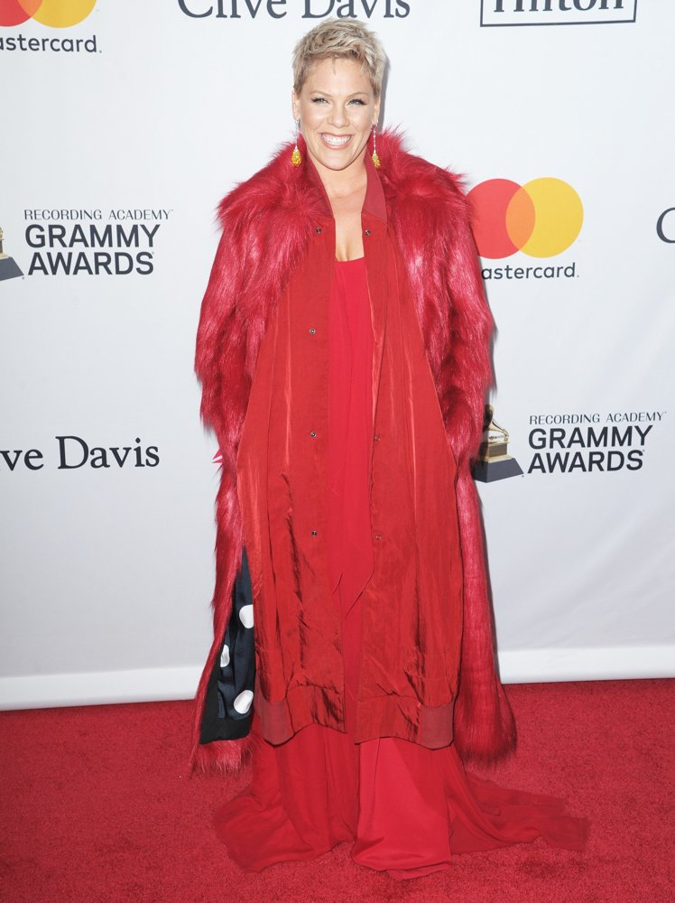 Pink<br>Clive Davis and Recording Academy Pre-GRAMMY Gala 2018 - Red Carpet Arrivals