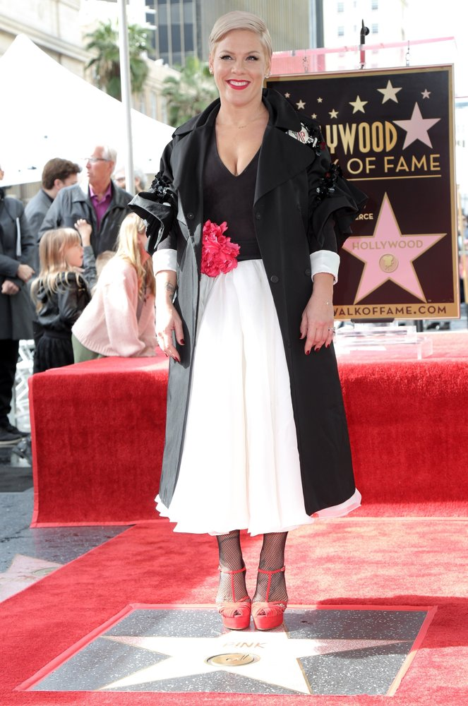 Pink<br>Pink Is Honoured with A Star on The Hollywood Walk of Fame