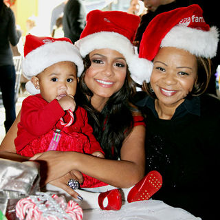 Christina Milian, Carmen Milian in ABC Family's Winter Wonderland
