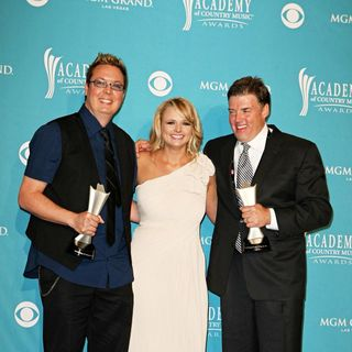 Frank Liddell, Miranda Lambert, Mike Wrucke in The 45th Annual Academy of Country Music Awards - Press Room