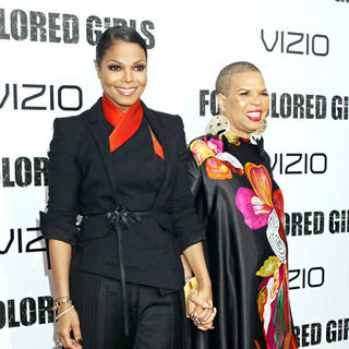 Janet Jackson, Ntozake Shange in NYC Movie Premiere of 'For Colored Girls' - Arrivals