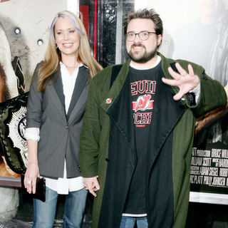Kevin Smith, Jennifer Schwalbach Smith in The NY Movie Premiere of 'Cop Out'
